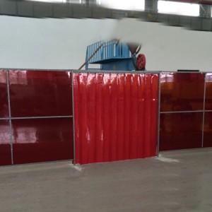 20cm宽2mm厚度厂房大片防辐射软玻璃帘空调门帘防电焊渣防风