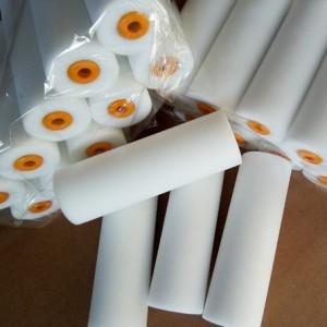 4寸平头海绵滚筒刷单头修高密度边滚刷油漆刷