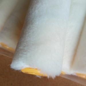 4寸羊毛滚筒刷修边角海绵滚刷油漆涂料刷工具
