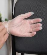 一次性PVC手套100只家用防护L码送皮筋