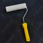 送手柄通孔6寸直径40mm羊毛滚筒刷油漆刷不掉毛耐腐蚀修边涂料工具刷