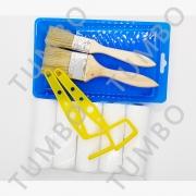 塑料托盘2寸3寸油漆刷滚筒刷毛滚刷工具托盘刷墙修边刷子收纳容器